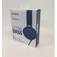 Sony XB550AP Extra Bass On-Ear Headphone, Blue (2017 model)
