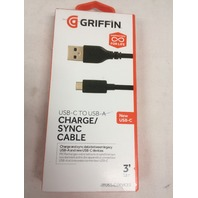 Griffin 3 ft USB-A to USB-C Charge & Sync Cable - Connect your USB C devices