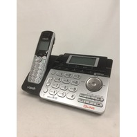 Vtech Dect 6.0 2-Line Cordless Phone, Digital Answering & Caller ID, Silver