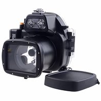 Neewer 40m 130ft Underwater Camera Waterproof Case for Canon EOS-M2 18-55mm lens