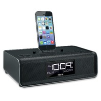 iHome iDL43B Dual Charging Stereo FM Clock Radio with Lightning Dock and USB