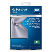 WD 1TB Silver My Passport Ultra Metal Portable External Hard Drive - USB 3.0