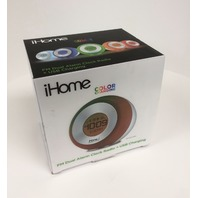 iHome Color Changing Dual Alarm FM Clock Radio with USB Charging (iM29SC)