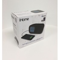 iBT210B Bluetooth Dual Alarm FM Clock Radio, Speakerphone & USB Charging - Black