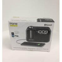 iHome Kineta Dual Charging Alarm Clock Radio with Portable Powerbank