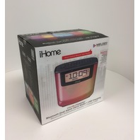 IHOME Bluetooth Color Changing, Alarm, FM, Clock Radio, Speakerphone, USB Charge