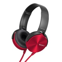 Sony Mdr Xb-450 Extra Bass Foldable Headphones Red