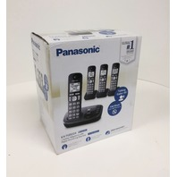 Panasonic -  Cordless Phone  With Digital Answering System - Metallic Black