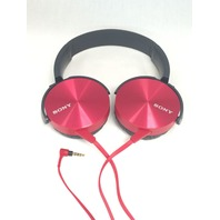 Sony MDR-XB450AP Extra Bass Headphone (Red)