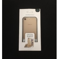 iPhone 7 Plus Case, Crystal Bumper, Champagne Gold - Military Protection
