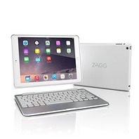 ZAGG Slim Book Case, Hinged with Detachable Backlit Keyboard iPad Air 2 - White