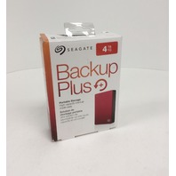 Seagate Backup Plus 4TB Portable External Hard Drive USB 3.0, Red