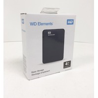 Wd 4 TB Elements Portable External Hard Drive - Usb 3.0 - Wdbu6y0040bbk-wesn