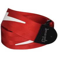 Gibson Gear ASGSBL-20 Lightning Bolt Style 2-Inch Safety Strap, Ferrari Red