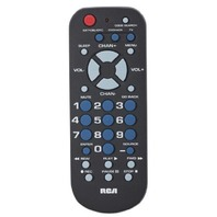 Audiovox RCR503BR Universal Remote Control, Palm Style, 3-Device