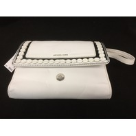 Michael Michael Kors Analise Medium Messenger Leather - White