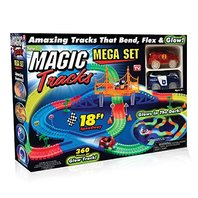 Miraculous Glowing Race Track Car Toy Road Bend Flex Flash Magic Truck Christmas