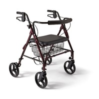 Medline Industries MDS86800XWS Heavy Duty Bariatric Rollator, 400 lb. Capacity