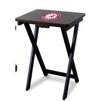 NCAA Alabama Crimson Tide TV Snack Trays With Storage Rack (Set Of 3)
