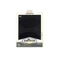 Black/Black Survivor All-Terrain Protective Case plus Stand for iPad Air 2