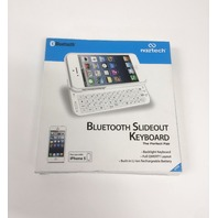 Naztech Ultra-Thin Bluetooth Slideout Keyboard for Apple iPhone 5 - White