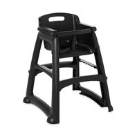 Rubbermaid Commercial Sturdy Chair Youth Seat Without Wheels, Black