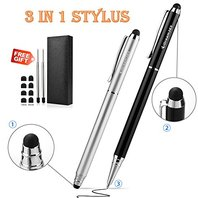 idream365 Stylus, 3-in-1 Stylus Pens for Touch Screens, With Gift Box-2 Pack