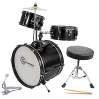 Drum Set Complete Junior Kid's Children's Size With Cymbal Stool - Sticks