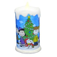 Peanuts Kurt Adler Battery-Operated Peanuts LED Motion Candle Decoration, 8-Inch