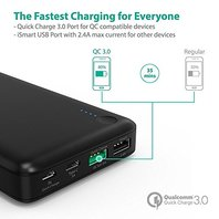 RAVPower Portable Charger with QC 3.0 Qualcomm Quick Charge 3.0, 20100mAh