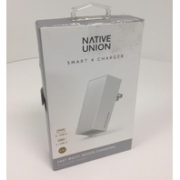 Native Union Smart 4 Charger - 4-port USB Foldable Wall Charger - White