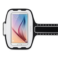 Belkin Cell Phone Armband for Samsung Galaxy S5, 6, 6 edge & S7 Solar, White