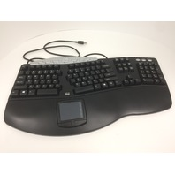 Adesso Tru-Form Pro Contoured Ergonomic Keyboard With Touchpad (Pck-308ub)