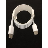 USB-C to USB-C - 3 foot Male to Male Data Charge Charging Cable - White