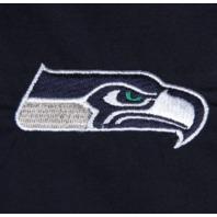Seattle Seahawks Women's Nfl Mock Wrap Scrub Top - College Navy