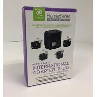Retrak Premier Series International Adapter Travel Plug With Dual USB Ports