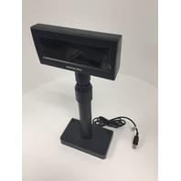 Bixolon Vacuum Fluorescent Customer Pole Display USB Interface, 5-24 VDC, Black