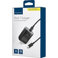 Insignia - USB Type-C Wall Charger - Black - Model: NS-MAC1C3