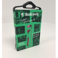 Skullcandy Method In-Ear Sweat Resistant Sports Earbud, Plum/Pink - SEALED