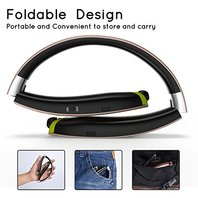 Senbowe Wireless Neckband Bluetooth Headset, Retractable Earbud Foldable Design