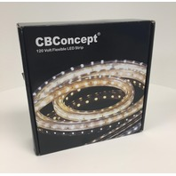 Cbconcept Ul Listed, 20 Feet, Super Bright 5400 Lumen, 4000k Soft White, Ac Flat