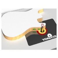 "Yonico Industrial router bit Flish trim router bit top & bottom bearing 1"""