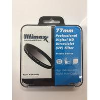 Ultimaxx 77mm PROFESSIONAL DIGITAL HD ULTRAVIOLET (UV) FILTER