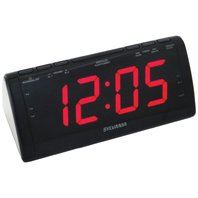 Sylvania SCR1206 Dual Alarm Clock Radio with 1.8-Inch Jumbo Digits