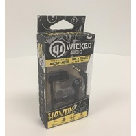 Wicked Audio Havok Earbuds with In-Line Microphone - Pitch Black SEALED