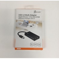 Gigabit Ethernet and HUB USB 3.0 Multi Adapter