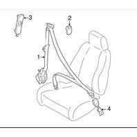 Seat Belt  Buckle (B25D-57-620C-66)A (L) Front Seat - Mazda