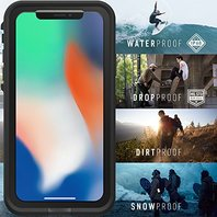 Apple iPhone X Case Lifeproof Watertight Fre Case Cover Case Black