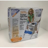Mommy's Helper Padded Potty Seat with Step Stool (White)