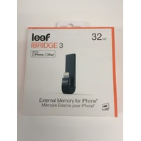 Leef - Ibridge 32gb USB 3.0, Apple Lightning Flash Drive - Black
